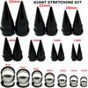 giant ear stretching kit-large ear stretching tapers and plugs-big tapers and plugs