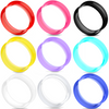Ultra thin silicone ear skin gauges choose color