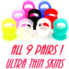 ALL 9 PAIRS ULTRA SOFT SILICONE EAR SKINS