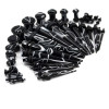 36 Piece Acrylic Black Marble Ear Stretching Kit Gauging tapers and plugs