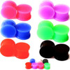 SOLID SOFT SILICONE EAR GAUGES SILICONE PLUGS