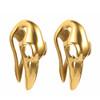 Gold plated stainless steel raven skull hangers