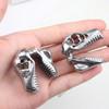 silver stainless steel Dinosaur skull hangers