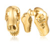 Gold color stainless steel Dinosaur skull hangers weights
