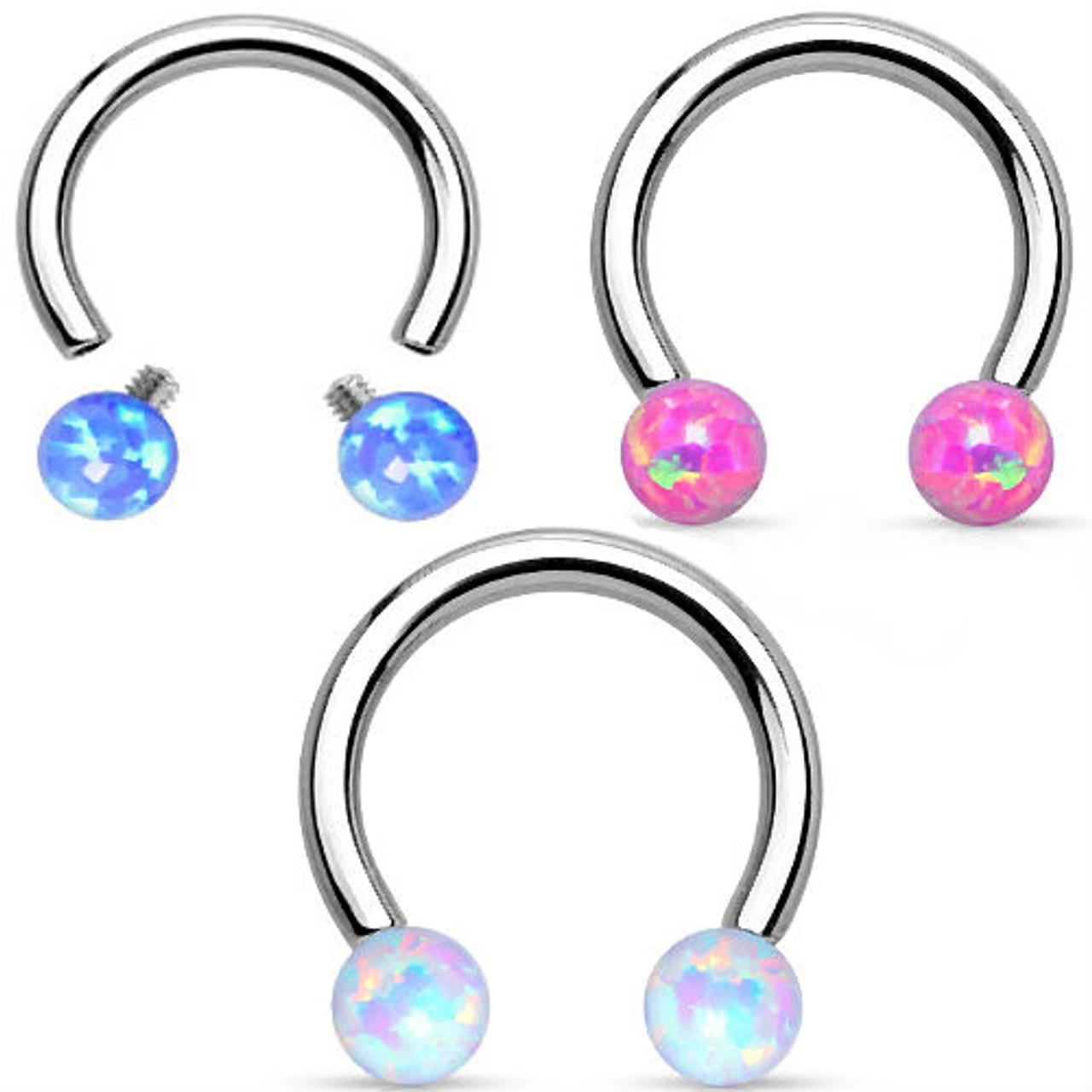 SURGICAL STEEL HORSESHOE Circular Barbell LARGE GAUGE Septum Ear Nipple Ring