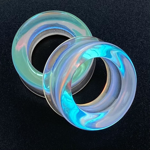 Hollow Mirror A B Glass Double Flare ear plugs tunnels