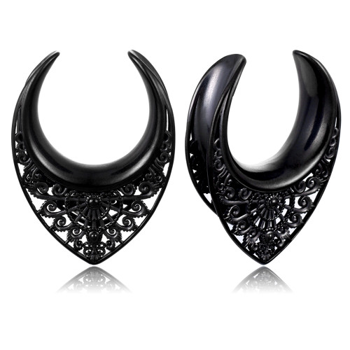 Black Artisan filigree stainless steel saddle spreaders