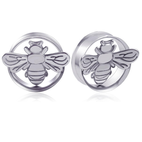 Stainless Steel Bee double saddle ear plugs
