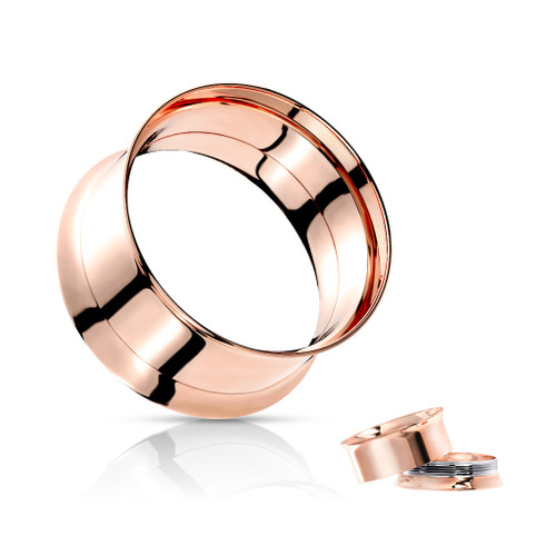 Rose Gold Plated  internal thread Stainless Steel Plugs