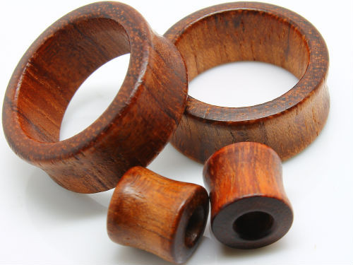 RED TIGER ORGANIC WOOD EAR GAUGE TUNNELS