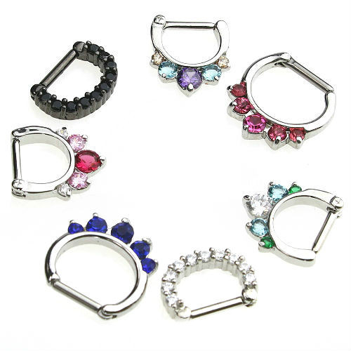 14 GAUGE SEPTUM RINGS princess gems
