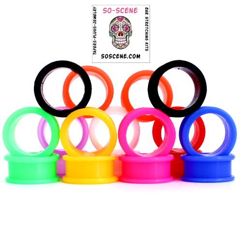 SILICONE EAR GAUGES -SILICONE PLUGS