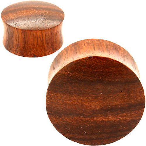red tiger wood convex ear plugs
