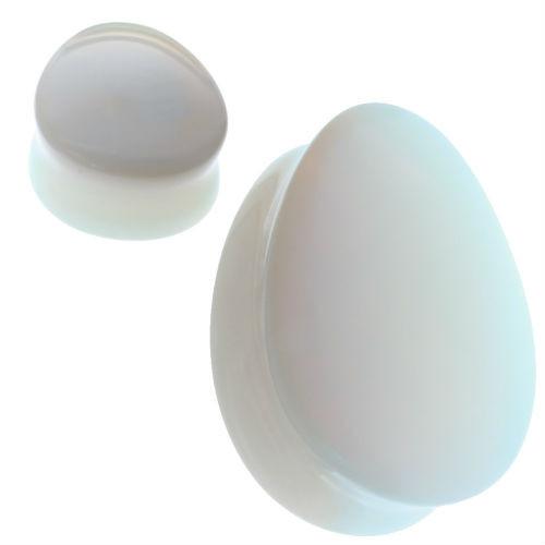 Teardrop Opalite Stone Ear Plugs