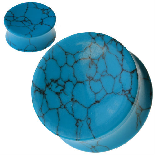 Concave Turquoise Stone Ear plugs