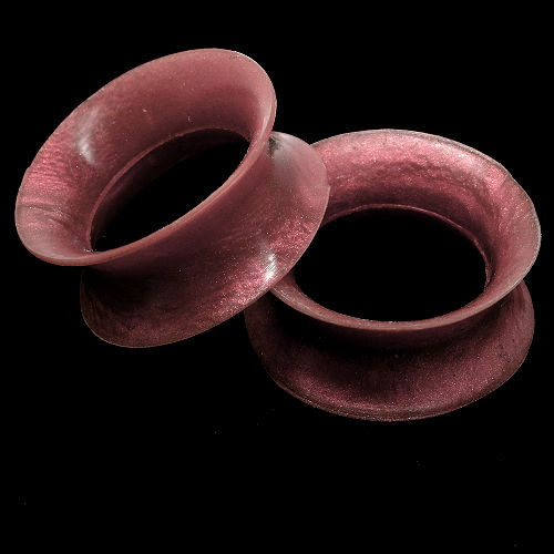 Pearlescent Dark Cranberry  Ultra thin Ultra Low profile Silicone Ear Skins