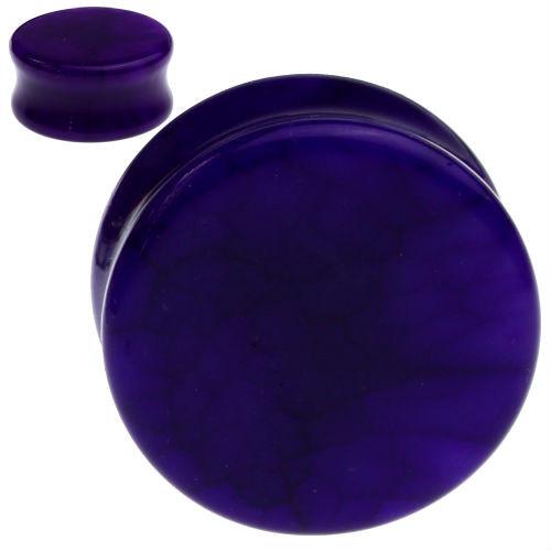 Solid Purple Agate Stone Ear plugs