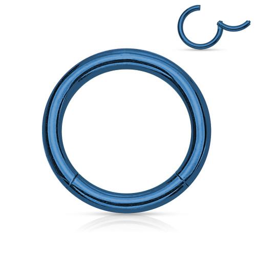 Blue segment Ring Choose gauge and diameter