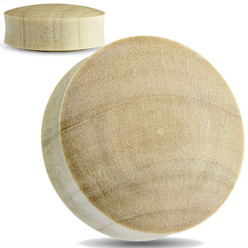 Convex Blonde Crocodile wood organic ear plugs
