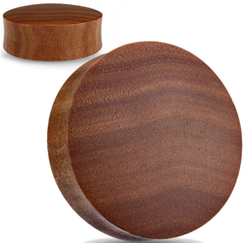 Convex Saba wood organic ear plugs