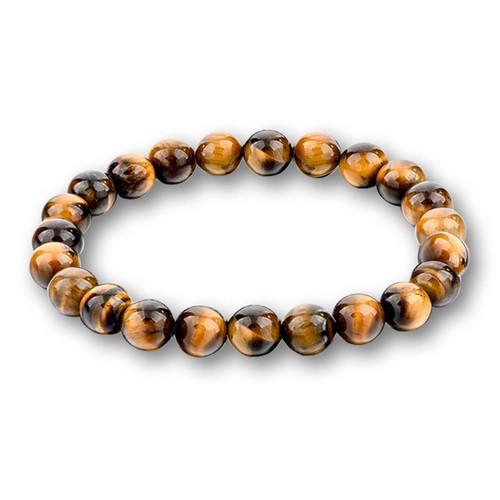 Tigers eye 8MM Chakra  stone bracelet