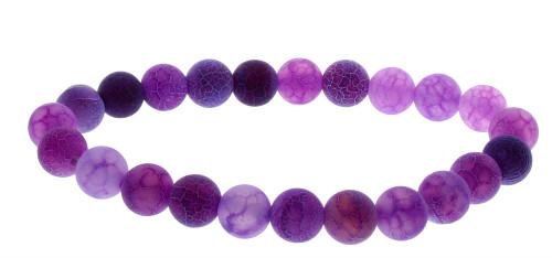 Purple Dragon Agate 8MM Chakra stone bracelet
