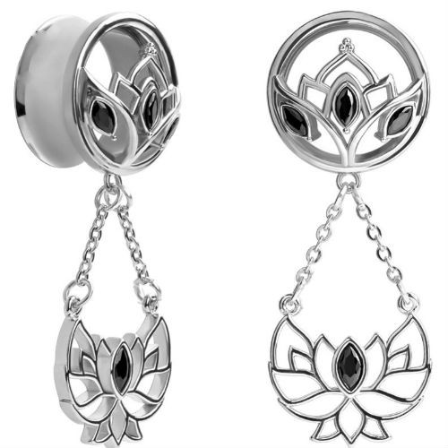 Stainless steel Lotus dangle Venetian goddess