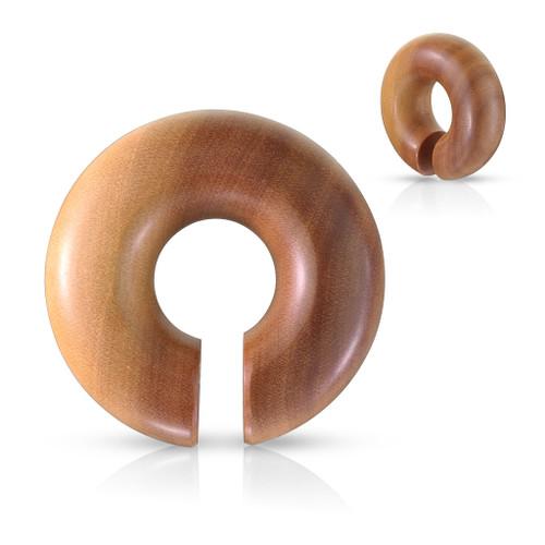 Round hangers Organic Saba Wood Round Ear Spiral Taper