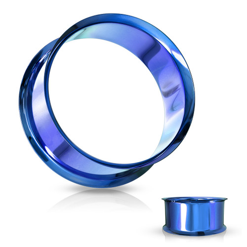 Cobalt blue Stainless Steel Eyelet Plugs