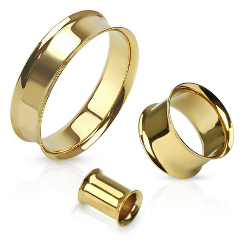 Gold IP plated Stainless Steel Eyelet Plugs