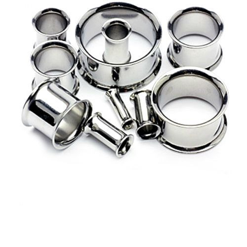 Silver Stainless Steel Eyelet Plugs