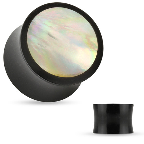 Mother Of Pearl Organic horn Saddle Fit Plug