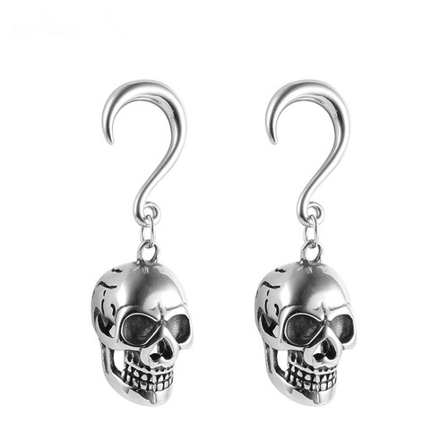 Silver weighted skull hook hangers surgical steel