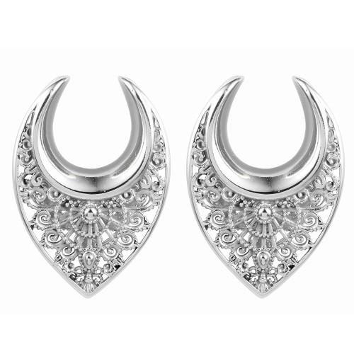 Artisan filigree silver stainless steel saddle spreaders