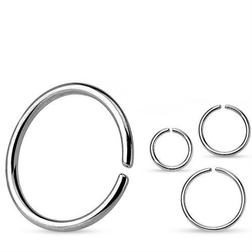 925 Sterling Silver Nose Ring Continuous Seamless Hoop bendable 16 18 20 gauge