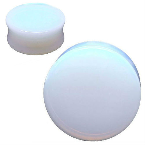 Opalite Glass ear Plug gauges