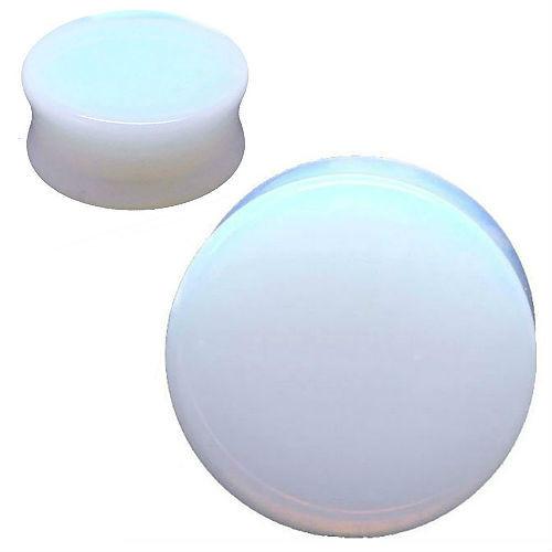Opalite Glass ear Plug gauges