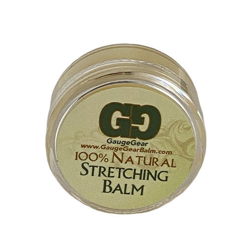 Gauge Gear ear stretching lube  A premium healing balm made to relieve and heal the effects of stretching your ears.