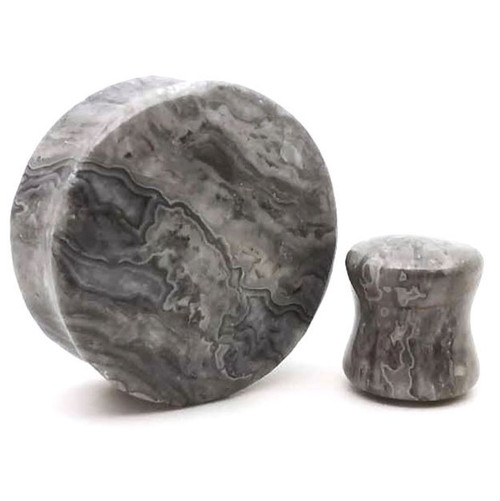 Picasso Jasper Stone  plugs  Ear Gauges