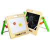 Children's Table top easel, made from solid wood.  Double sided whiteboard/ chalkboard. Great for mark making and art class. easy to fold away for storage.