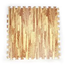 Floor Mat Soft, Inside or Outside Brown, Wood 104cm Square