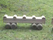 Outdoor Large Hand Made Wooden Train Passenger Carriage
