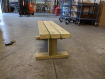 Outdoor Large Hand Made Wooden Bench