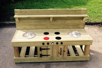 Outdoor Large Hand Made Wooden Mud Kitchen
