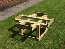 Outdoor Large Hand Made Wooden Activity Table Without Tray
