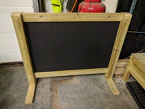 Outdoor Large Hand Made Wooden Freestanding Chalk Board