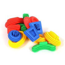 Construction Soft Touch Shape Connectors 160 Piece Set