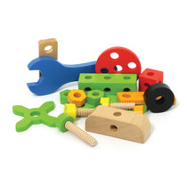 78 Piece Wooden Construction Builder Set