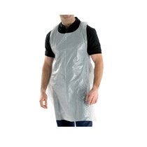Economy Flat Packed Aprons 100 Pack (Blue or White