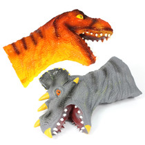Puppets (hand), Soft Vinyl Dinosaur Mid Arm Length Set of 2